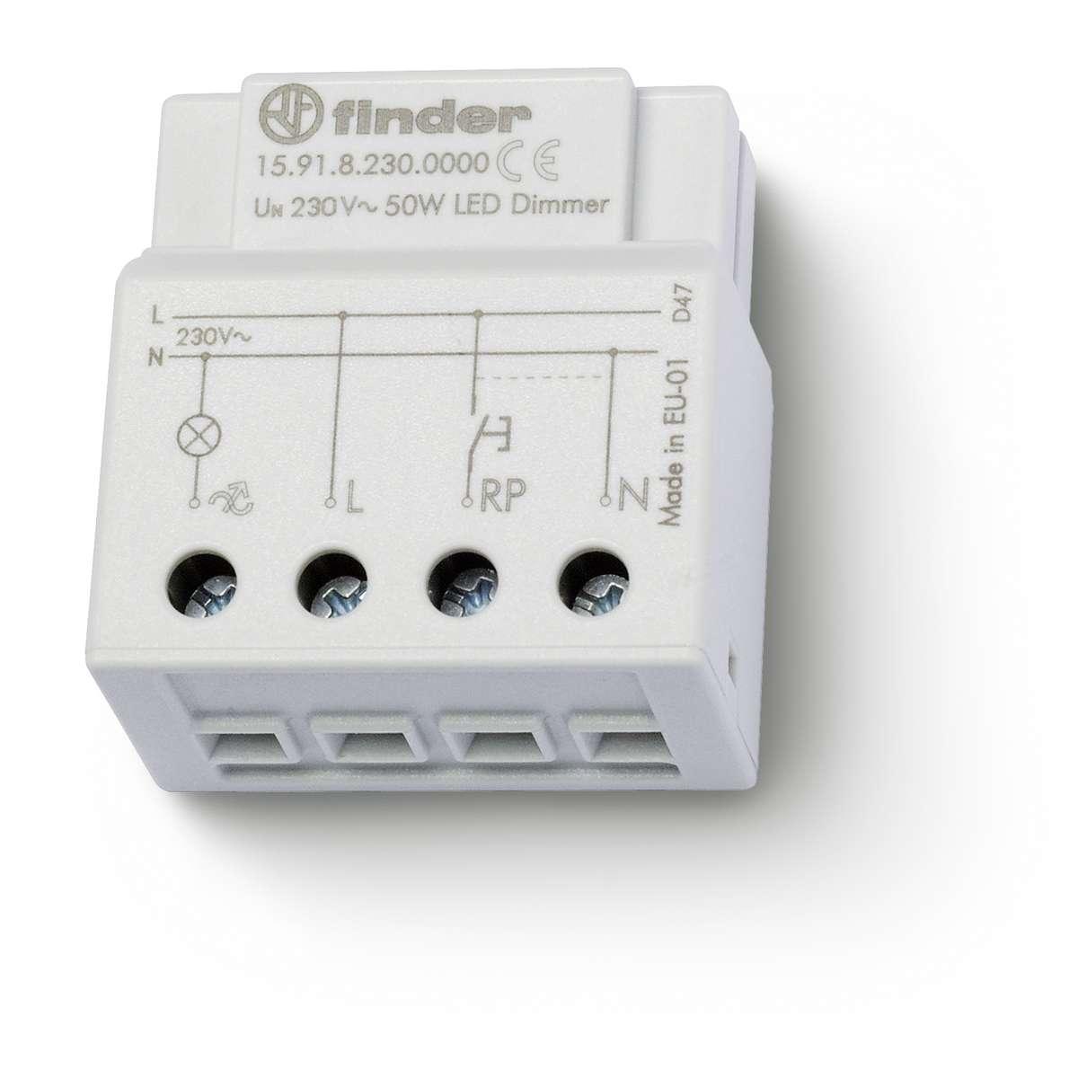 Dimmer, Elektronisch, Kleine Bauart Für UP Dose Oder Schalterdose, Für Dimmbare  LED Lampen Bis 50 W   405660109   15.91.8.230.0000   Texag